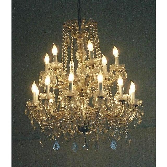 Vintage Crystal Chandelier - Image 2 of 3
