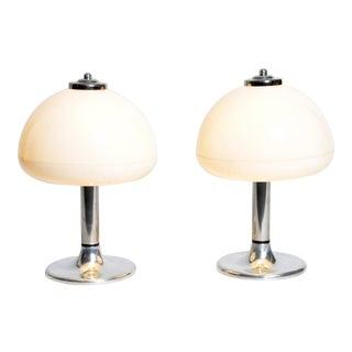 Pair of Mushroom-Shaped Table Lamps