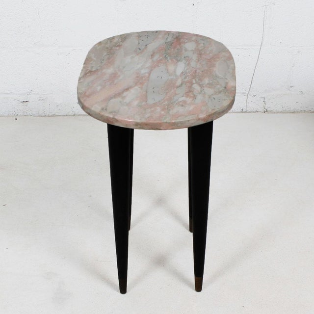 Pink Marble Top Accent Tables - Pair - Image 2 of 7