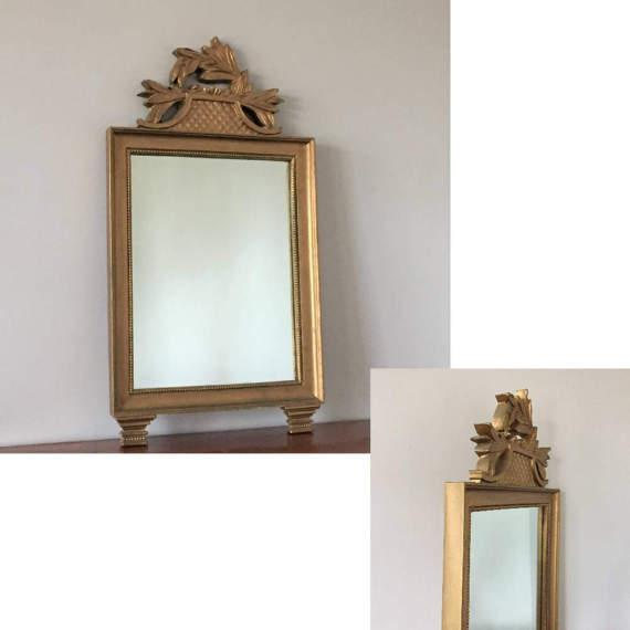 Image of Vintage Gold Wall Mirror