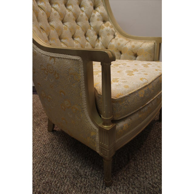 Louis XV French Bergere Tufted Back Chair - Image 7 of 11