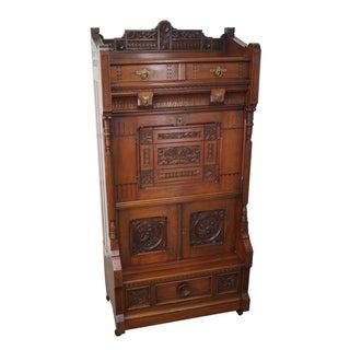 Daniel Pabst Victorian Aesthetic Walnut Secretaire Abattant Desk