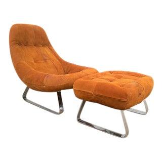 Percival Lafer Earth Chair & Ottoman