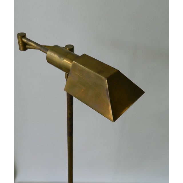 Adjustable Brass Floor Lamp - Image 3 of 4