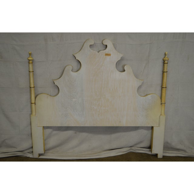 Vintage Rococo Louis XV Style Hand Painted Queen Poster Headboard - Image 4 of 10