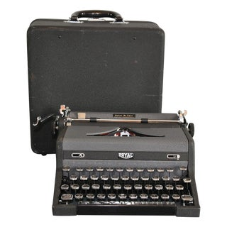 1948 Sleek Portable Typewriter and Case