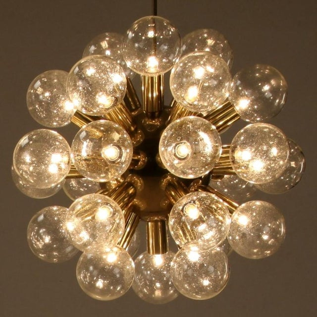 Several Robert Haussmann Brass Sputnik Pendants Holding Twenty Eight Bulbs - Image 6 of 10
