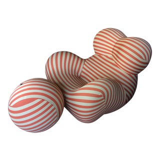 Beige & Red Striped Gaetano Pesce Chair