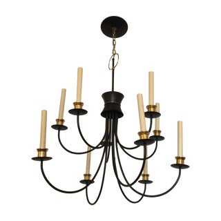 Mid-Century 10 Lights Chandelier