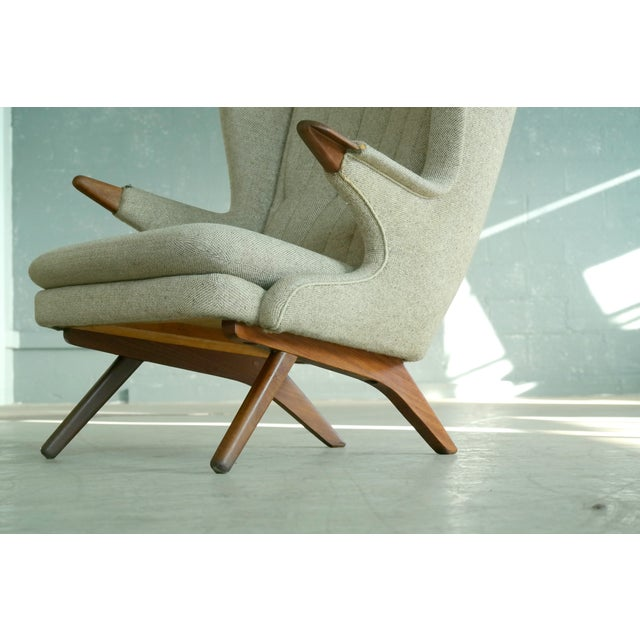 Sven Skipper 1960s Papa Bear Chair Model 91 in the Style of Hans Wegner - Image 3 of 11