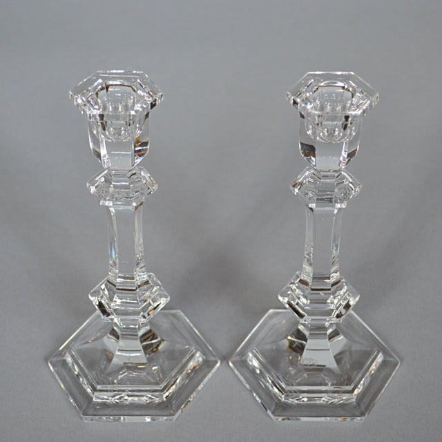 Baccarat Crystal Candlesticks - A Pair - Image 3 of 6