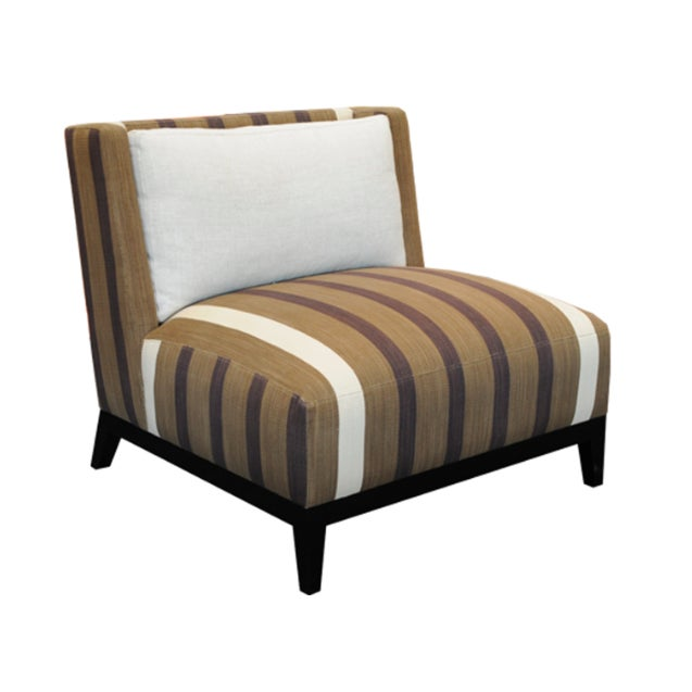 Ralph Lauren Fabric Custom Lounge Chairs - A Pair - Image 1 of 4