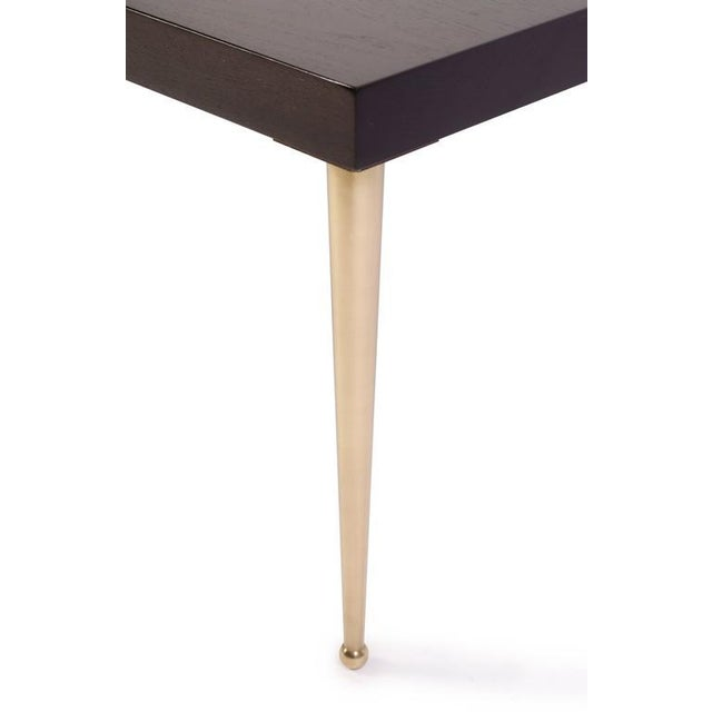 Allister Tables in Ebony Walnut and Turned Brass by Montage - Image 5 of 6