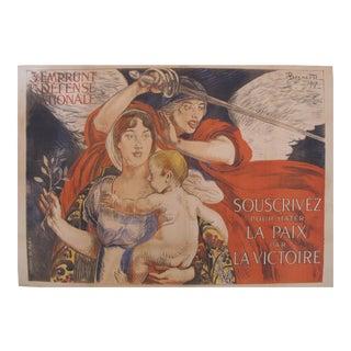1917 Original French WWI Poster, 3e Emprunt La Paix par la Victoire (Peace through Victory)
