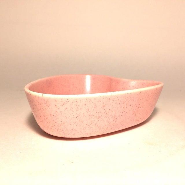 Image of Mid-Century Heart-Shaped Pink Ceramic Dish