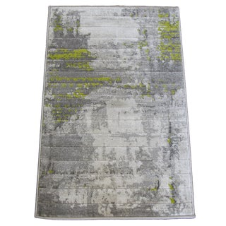 Abstract Art Green Rug -- 6'8''x 10'