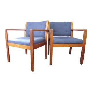 Mid-Century Modern Wooden Chairs - A Pair