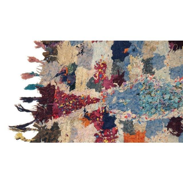 "Vintage Boucherouite Moroccan Carpet - 6'5"" X 4'' - Image 2 of 3"