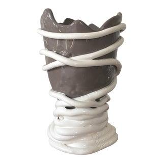 Gaetano Pesce Greige White Vase