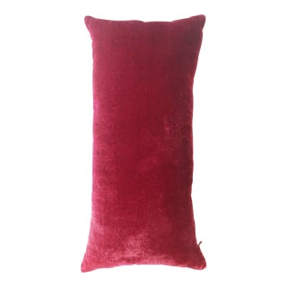 Small Raspberry Velvet and Silk Kevin O'Brien Pillow