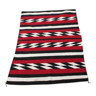 Navajo Indian Weaving in Chevron Pattern Rug