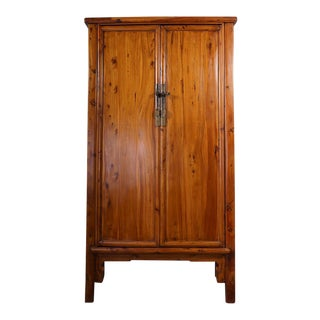 Chinese Antique Cypress Wood Armoire-Huge