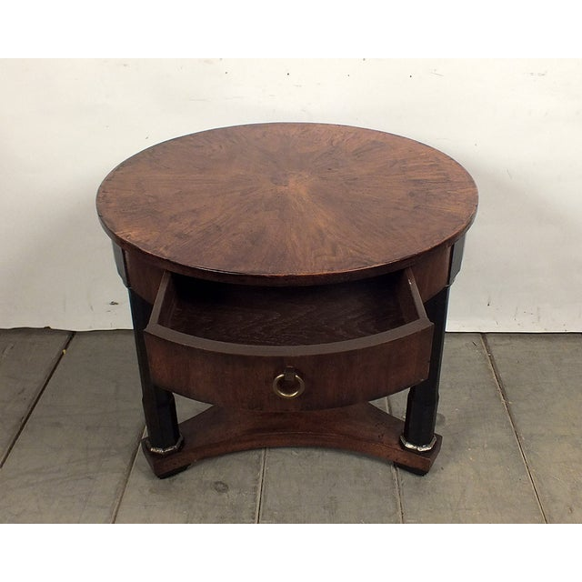 1950s Regency Style Round Side Table - Image 4 of 8