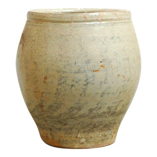 Large Glazed Terracotta Jar or Planter