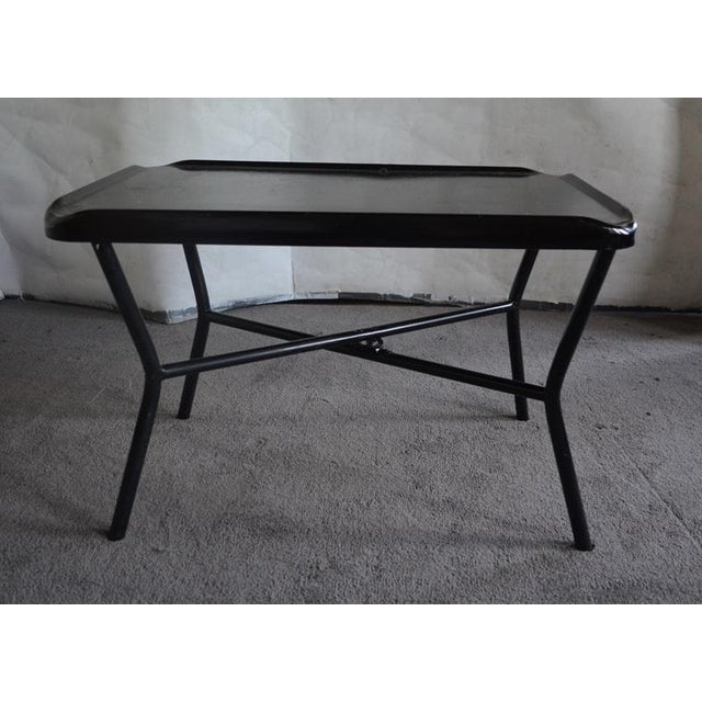 Image of Russel Wright Black Metal Tray Table