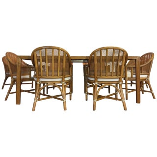 McGuire Bamboo & Rattan Dining Set