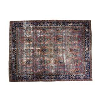 "Persian Distressed Yezd Carpet - 8'6"" X 11'5"""