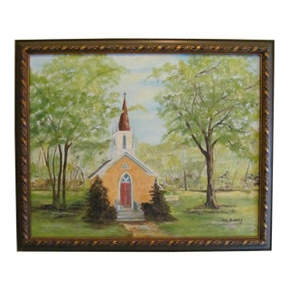 Yellow Chapel Scene Painting