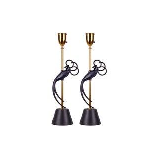 Tropical Bird Lamps - A Pair