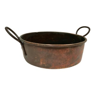 Antique French Copper Preserve Pan