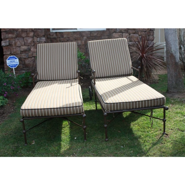Brown Outdoor Chaise Lounges - A Pair - Image 2 of 8