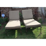 Image of Brown Outdoor Chaise Lounges - A Pair