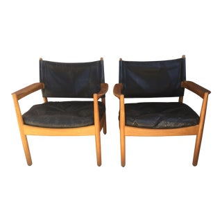 Gunnar Myrstrand Lounge Chairs Pair Danish Modern Mid Century