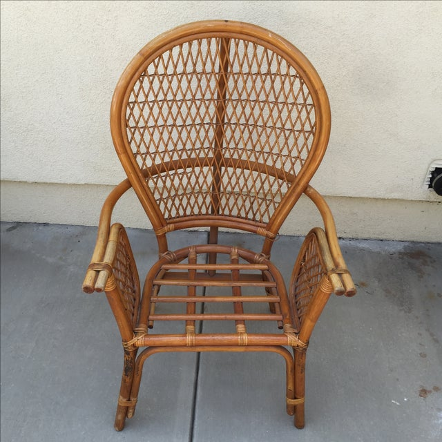 Vintage Rattan Bamboo Chair - Image 4 of 11