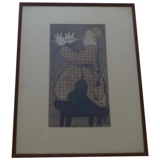 """""""Grock"""", Jean Auscher Lithograph"""