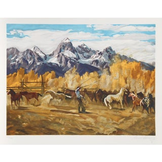 Conrad Schwiering Lithograph - Singlin' Out