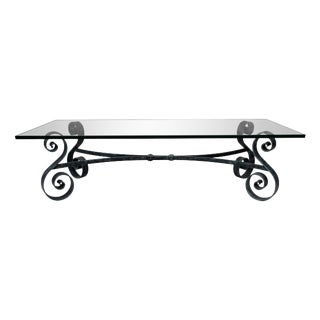 Studio Wrought Iron & Glass Coffee Table