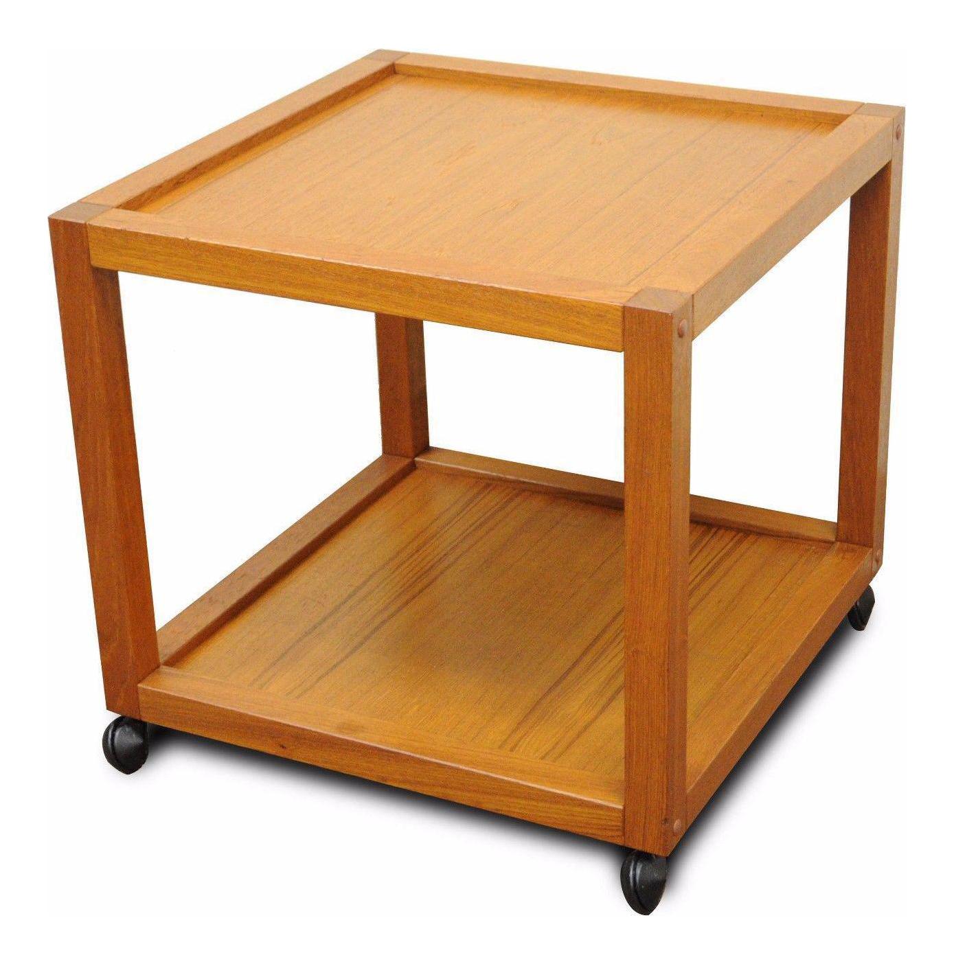 vintage nordisk andels eksport mid century danish modern square teak side table