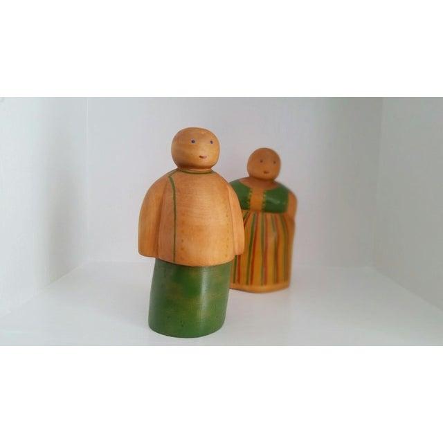 Vintage Scandinavian Wooden Figurines - A Pair - Image 4 of 4