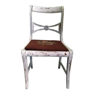 Vintage Shabby Chic Needlepoint Chair