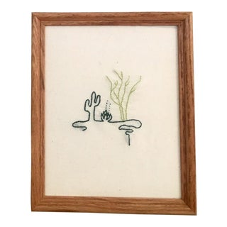 Cacti Trio Framed Embroidery