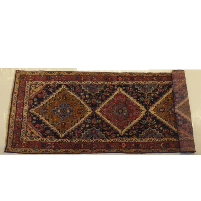 "Persian Hamadan Runner Rug - 9' x 3'6"" - Image 2 of 5"