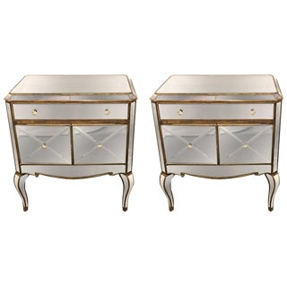 Mirrored Chests/Nightstands - a Pair