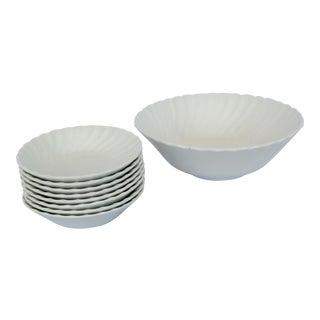 English White Bowl & Berry Bowls - Set of 11
