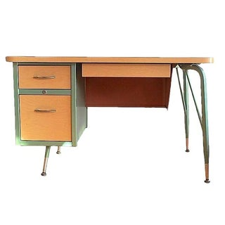 Mid-Century Streamlined Custom Desk