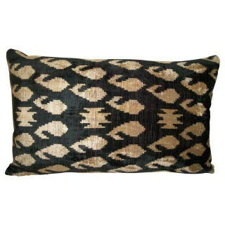 Vintage Silk Velvet Accent Pillow